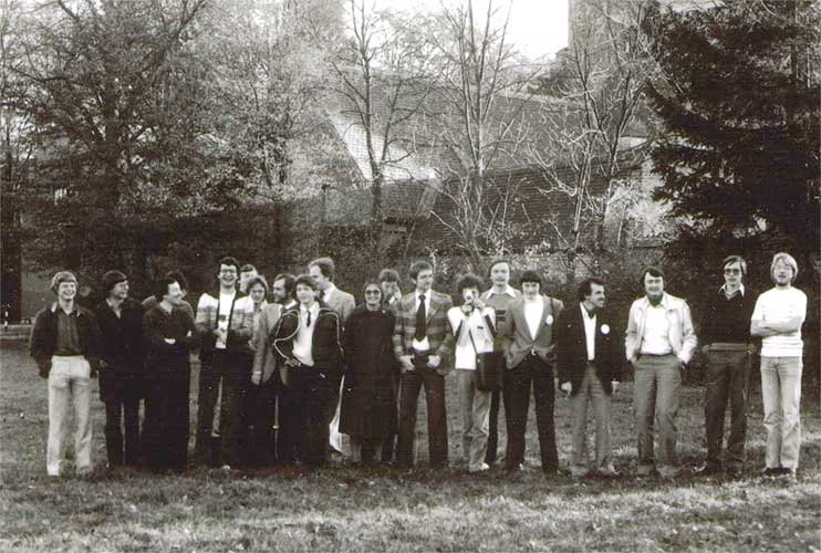 The group photo of 1980 (credit unknown photographer).