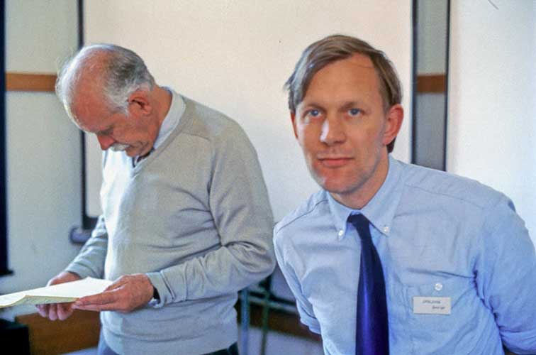 Dr.Bertil Lindblad and George Spalding (credit Paul Roggemans).