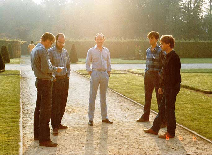 Simon Van Leverink, Carl Johannink, Steve Evans, Paul Van der Veen and Marco Van Rossum (credit unknown photographer).
