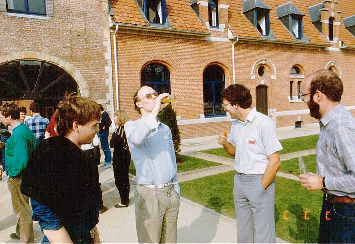 Coffee break, from l.to r. Paul Koenraad, Marco Van Rossum, Casper ter Kuile, Luc Vanhoeck and Carl Johannink (credit unknown photographer).