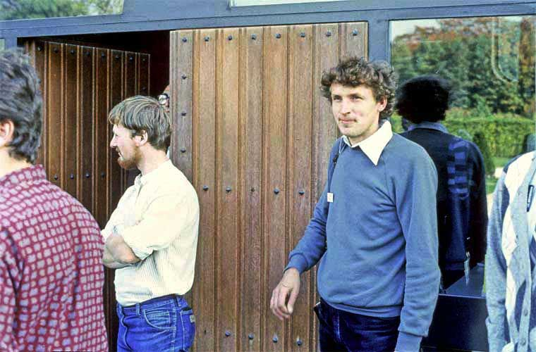 From l.to r. Lieven Smits (partly), Per Aldrich, Roberto Gorelli (looking out of the door) and Ferenc Horvath (credit Paul Roggemans).
