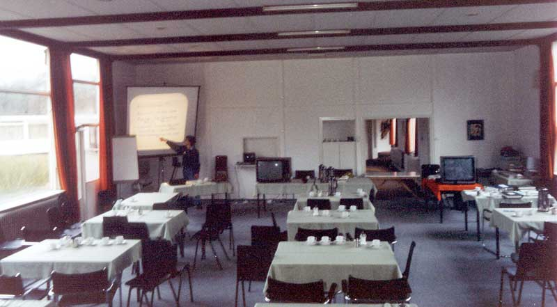 The conference room during the 1988 IMC (credit Casper ter Kuile).