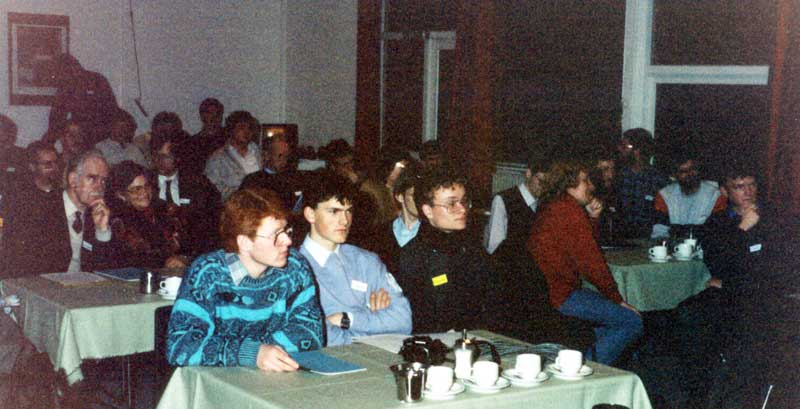 The audience at the 1988 IMC, in front Trond Erik Hillestad and Gai Gaarder (credit Casper ter Kuile).