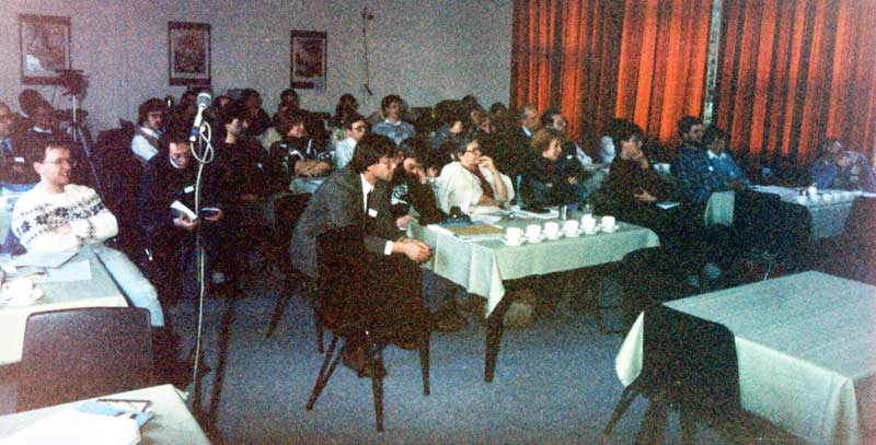 The audience and conference room at the 1988 IMC (credit Casper ter Kuile).