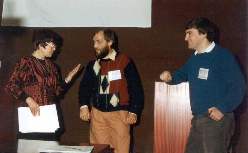 From l.to r. Alexandra Terentjeva, Jürgen Rendtel and Malcolm Currie (credit Casper ter Kuile).