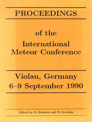 The Proceedings of the International Meteor Conference, Violau 1990.