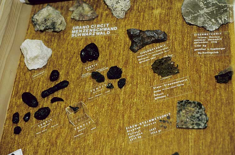 The meteorite collection at the observatory of Violau (credit Axel Haas).