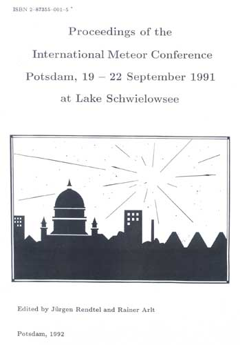 The Proceedings of the International Meteor Conference, Potsdam 1991.