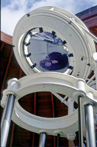The optics on the top of the Einsteinturm Solar observatory (credit Axel Haas).