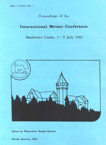 The Proceedings of the International Meteor Conference, Smolenice 1992.