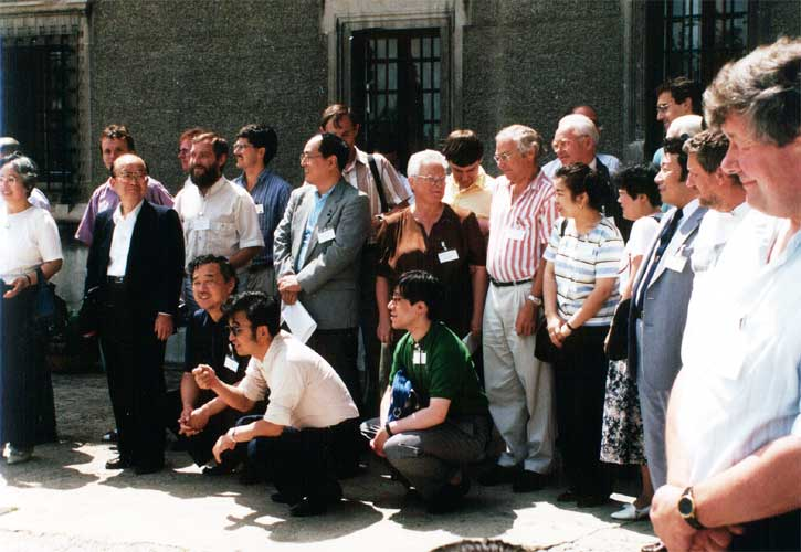 The Meteoroids group photo, at left a number of IMO members (credit unknown photographer).