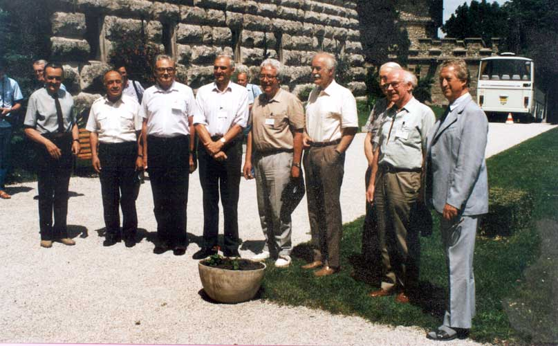 An historic photo of all IAU Commission 22 Chairmen from l.to r. Lubor Kresak, Pulat Babadzhanov, Zdenek Ceplecha, Ian Williams, Oleg Bel'kovich, Bertil Lindblad, Graham Elford, Colin Keay and Jan Stohl (credit Casper ter Kuile).