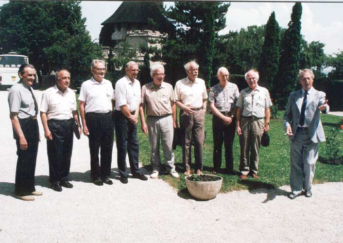 An historic photo of all IAU Commission 22 Chairmen from l.to r. Lubor Kresak, Pulat Babadzhanov, Zdenek Ceplecha, Ian Williams, Oleg Bel'kovich, Bertil Lindblad, Graham Elford, Colin Keay and Jan Stohl (credit unknown photographer).
