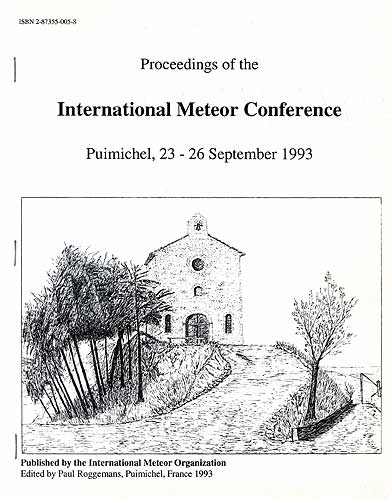 The Proceedings of the International Meteor Conference, Puimichel 1993.