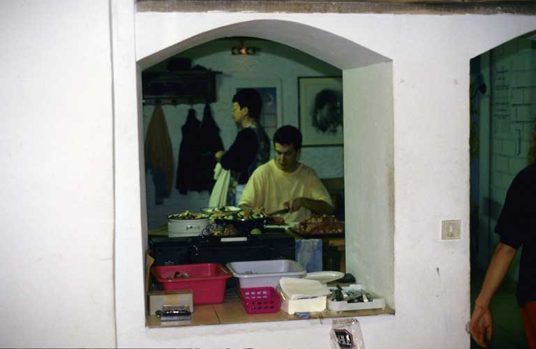 Frederic Courbin at work in the kitchen of 'La Remise' (credit Axel Haas).