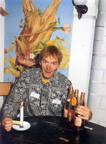 Jacob Kuiper with candle and wine (credit Casper ter Kuile).