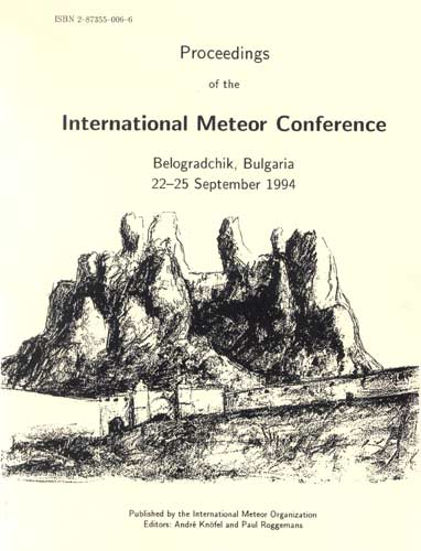 The Proceedings of the International Meteor Conference, Belogradchik 1994.