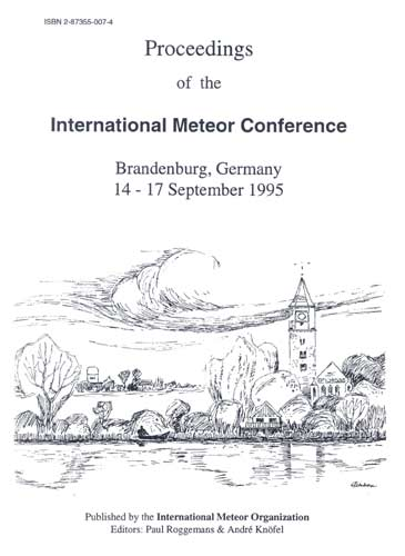 The Proceedings of the International Meteor Conference, Brandenburg 1995.