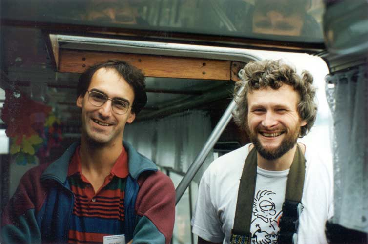 On the excursion by boat: Marc de Lignie and Chris Trayner (credit Casper ter Kuile).