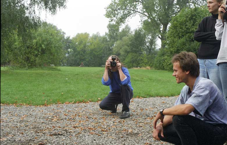 Axel Haas photographing, with Ralf Koschack in front (credit Gisela De Smedt).