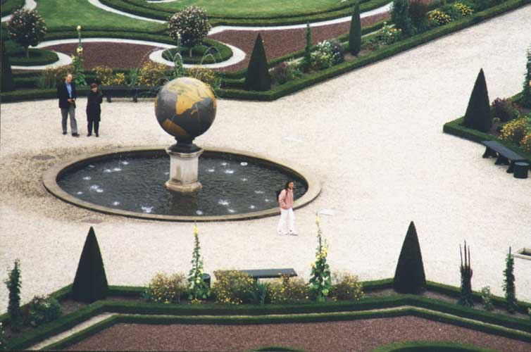 View on the English garden of the palace (credit unknown photographer, image provided by Valentin velkov).