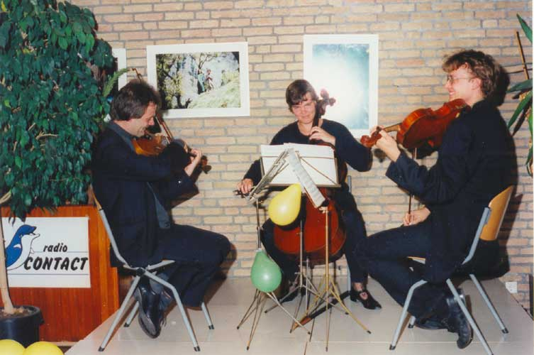 A string trio provided styleful classical music during the reception (credit Urijan Poerink).