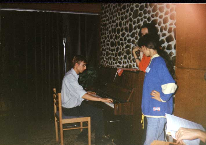 Rainer Arlt giving a piano recital (credit unknown photographer, picture provided by Valentin Velkov).