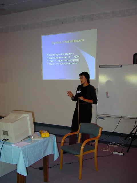 Dragana Okolic at her lecture about radio meteor observing (credit Javor Kac).