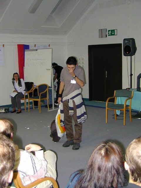 Impressions from the Romanian Astropoetry evening; Ionut Titus Ilesoi (credit Javor Kac).
