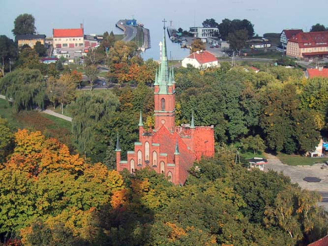 During the excursion, a church in Frombork seen from the tower (credit Casper ter Kuile).