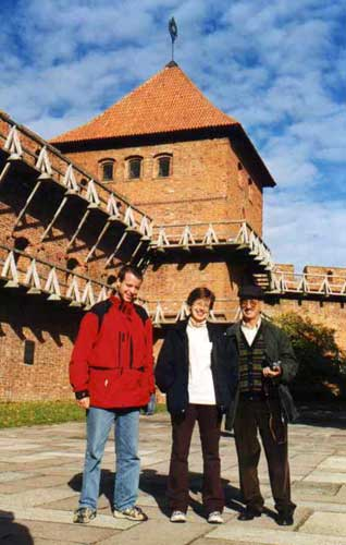 During the excursion, Javor Kac, Dunja Fabian and Stane Slavec in front of the Copernicus Tower (credit Javor Kac).