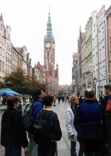 During the excursion, in Gdansk (credit Javor Kac).