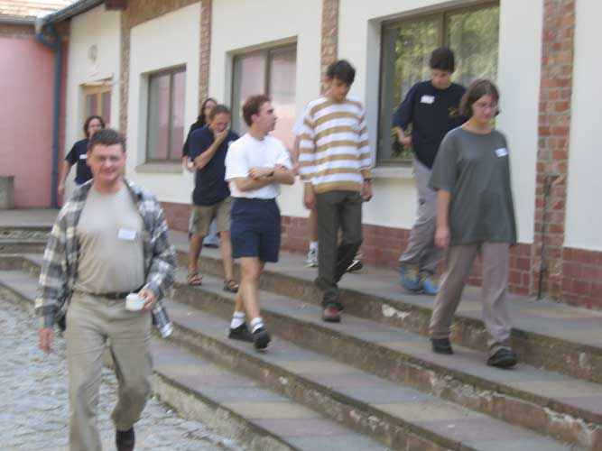 IMC participants in front of the main building, at left Detlef Koschny (credit Casper ter Kuile).