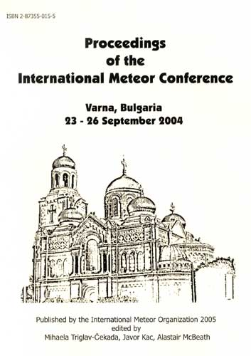 The Proceedings of the International Meteor Conference, Varna 2004.