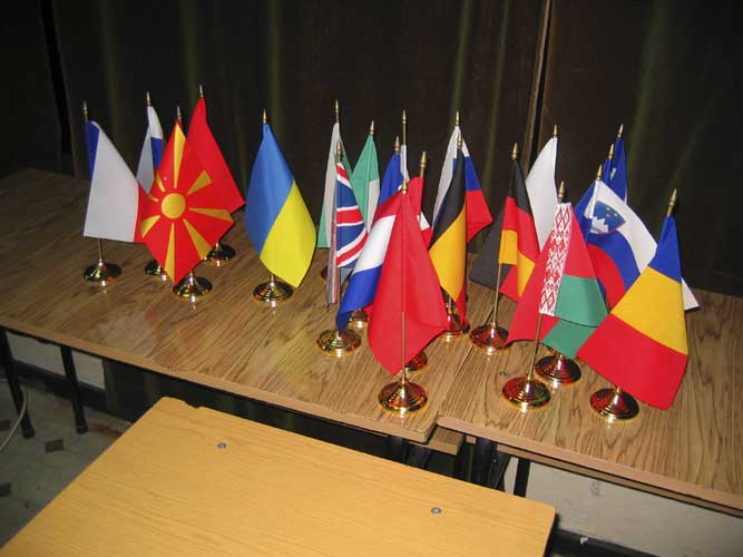 The flags for the countries of all participants (credit Casper ter Kuile).