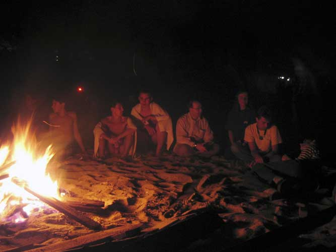 Campfire on the beach (credit Casper ter Kuile).