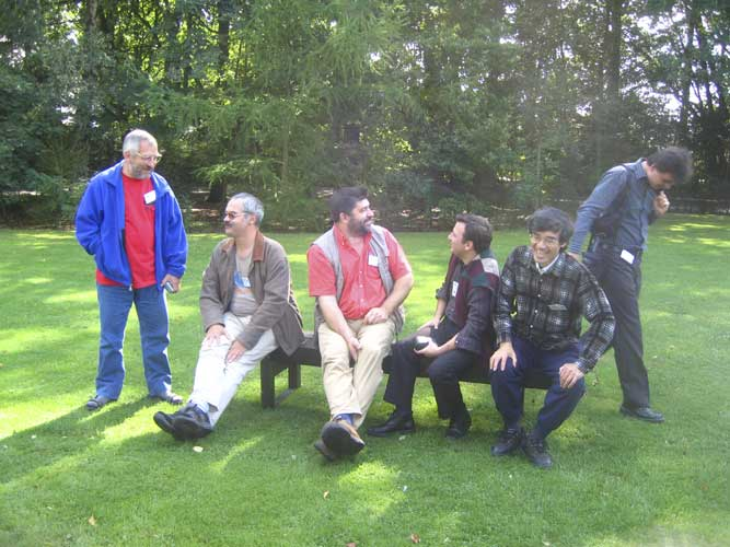 Ready for the excursion, from l.to r. Jürgen Rendtel, André Knöfel, Frans Lowiessen, Juan Martin Semegone, Nagatoshi Nogami and Antonio Martinez (credit Casper ter Kuile).