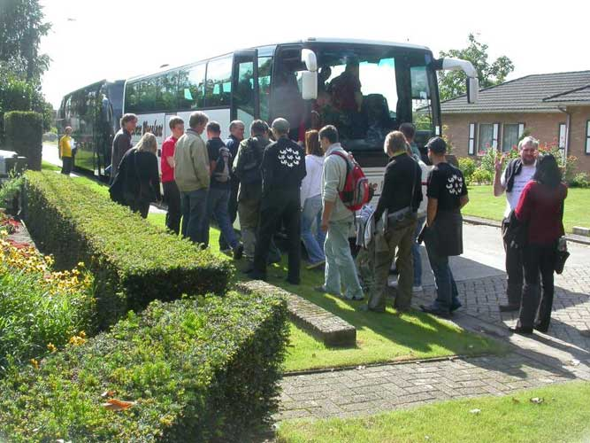 Two busses were rented for the large number of participants (credit Jean-Marc Wislez).