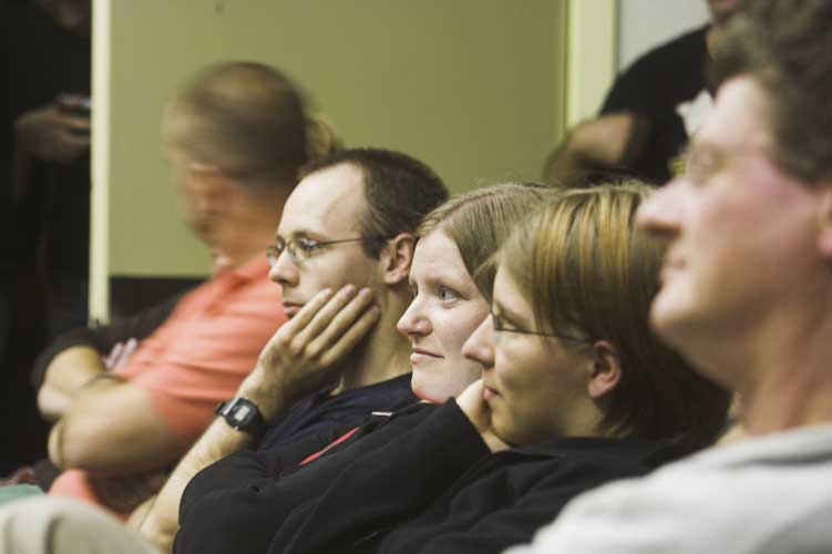 The attentive audience during the Astro Poetry show (credit Rainer Arlt).