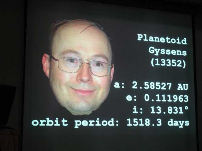 IMO council member Marc Gyssens got an asteroid named after him (credit Jos Nijland).