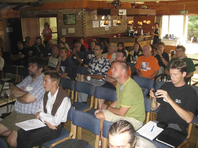The audience during the lectures (credit Casper ter Kuile).