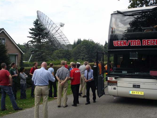 Arrival by busses at the Westerbork site (credit Jos Nijland).
