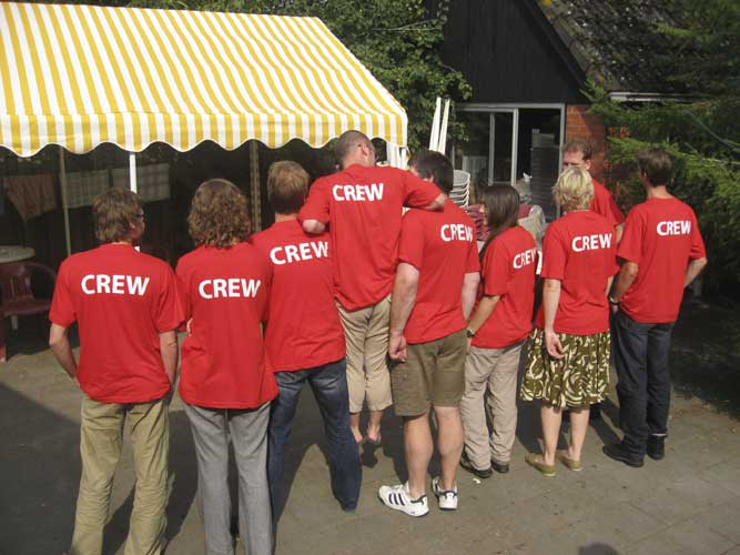 After the lunch on Sunday the organizers crew said goodbye (credit Casper ter Kuile).