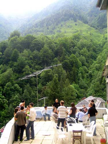 View on the terrace with the radio observers' antenna (credit Katya Koleva).