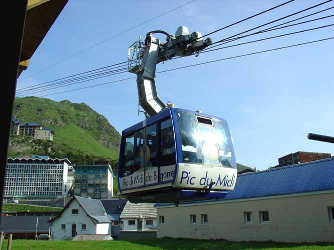 The cable car that took the IMC group to the Pic du Midi Observatory (credit Galina Ryabova).