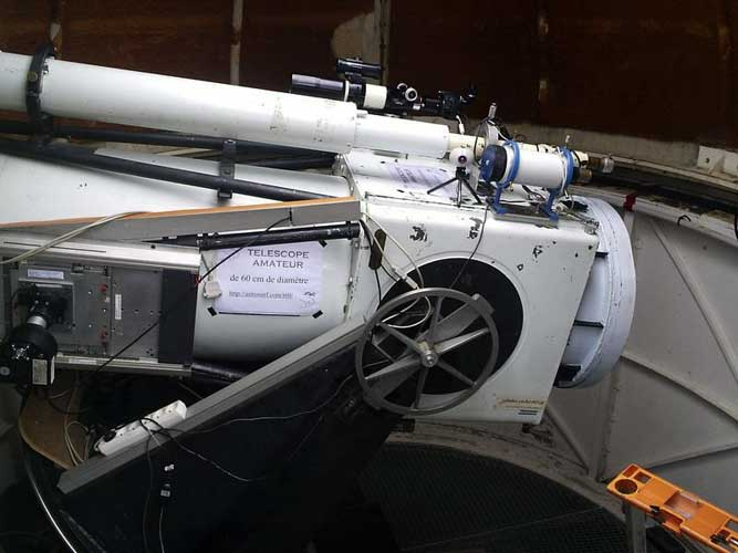The 60 cm telescope of Pic du Midi reserved for amateur astronomers (credit Adriana Nicolae).