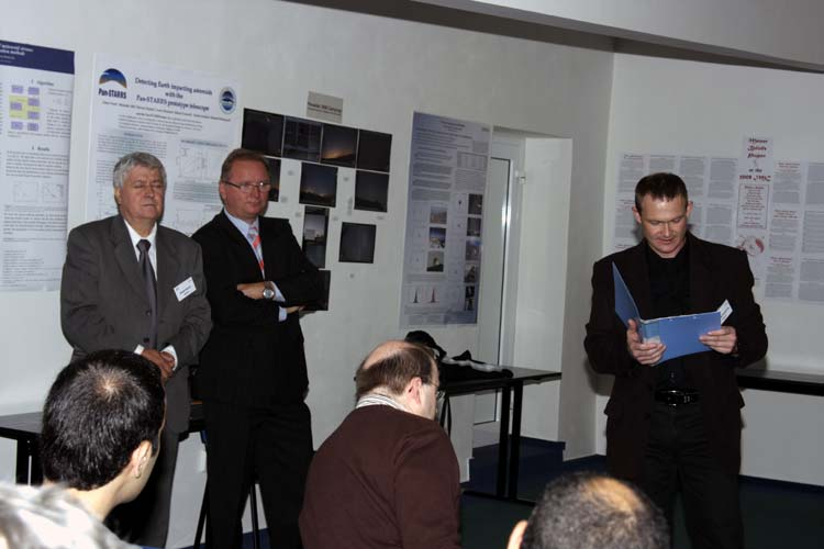 Friday morning, the opening ceremony: from l.to r. Daniel Ocenas, ?? and Stanislav Kaniansky (credit Bernd Brinkmann).