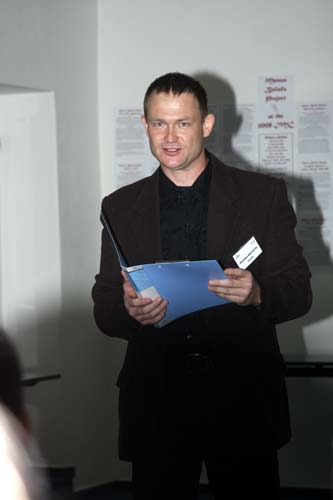 Friday morning, the opening ceremony: the 2008 IMC organizer Stanislav Kaniansky (credit Bernd Brinkmann).