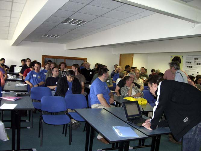 The audience in the conference room, ready for the next lecture (credit Jean-Louis Rault).
