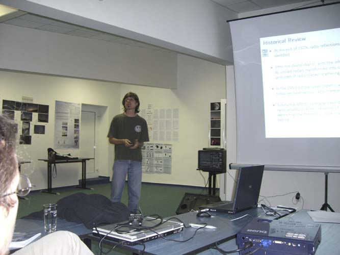 Antonio Martínez Picar with 'Portable system for Meteor activity recording' (credit Jean-Louis Rault).